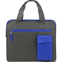 Конференц-сумка для документов Session полиэстер серая/синяя (34x2x29.5 см)