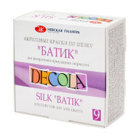 Акриловые краски Decola для шелка и батика 9 штук по 50 мл