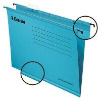 Подвесная папка Esselte Classic А4 до 250 листов синяя 25 штук в упаковке