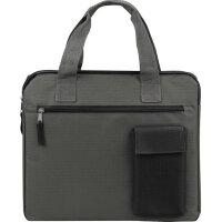 Конференц-сумка для документов Session полиэстер серая/черная (34x2x29.5 см)