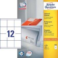 Этикетки самоклеящиеся Avery Zweckform белые 70х67.7 мм 12 штук на листе A4 100 листов