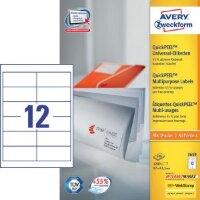 Этикетки самоклеящиеся Avery Zweckform белые 97х42.3 мм 12 штук на листе A4 100 листов