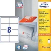Этикетки самоклеящиеся Avery Zweckform белые 97х67.7 мм 8 штук на листе A4 100 листов