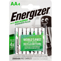 Аккумулятор АА 2000 мАч Energizer Power Plus 4 штуки в упаковке Ni-Mh