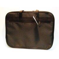 Папка-портфель нейлоновая А4 черная (310x390 мм 1 отделение)