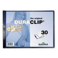 Папка для брошюровки Durable с клипом А4 горизонтальная синяя (до 30 листов)