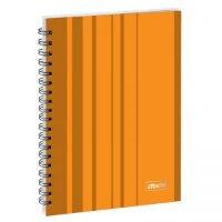 Бизнес-тетрадь Attache Concept А5 120 листов оранжевая в клетку на спирали 155х202 мм