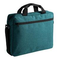 Конференц-сумка из полиэстера синяя 38x30x8 см