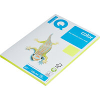 Бумага цветная IQ Color (A4, 80 г/кв.м, NEOGB - желтый неон, 100 листов)