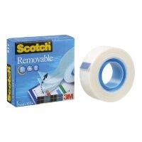Клейкая лента 3M Scotch Removable съемная (19 мм х 33м, матовая, 1 штука)