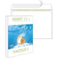 Конверт C4 стрип экологичный 229х324 мм 90 г/кв.м Nautilus 25 штук в упаковке