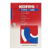 Бумага копировальная синяя Kores 1200 (А4  100 листов)
