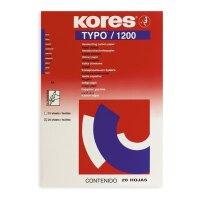 Бумага копировальная синяя Kores 1200 (А4  20 листов)