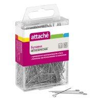 Булавки Attache (металлические 35 мм 500 штук в упаковке)