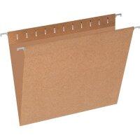Подвесная регистратура Эконом А4 до 80 листов коричневая (10 штук в упаковке)