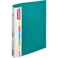 Папка на 2-х кольцах Attache пластиковая 32 мм зеленая