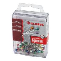 Булавки для пробковых досок Globus 30 мм 150 штук в упаковке