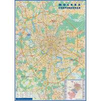 Настенная административная карта Москвы 1:26 тыс