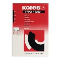 Бумага копировальная черная Kores 1200 (А4  100 листов)