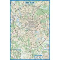Настенная карта Авто карта Москвы, 1:33тыс.,1,6х1,07м.