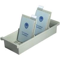 Картотека для трудовых книжек Han А6 на 40 книжек или 1300 карточек (345x128x65 мм открытая)