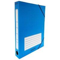 Короб архивный Attache гофрокартон синий 232x46x316 мм на резинках
