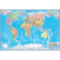 Настенная карта Мир политическая 1:15млн., 2,33х1,58м.