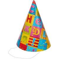 Колпак С Днем рождения! 6 штук в упаковке