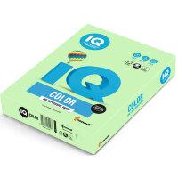 Бумага цветная IQ Color (А4  160 г/кв.м MG28-зеленый  250 листов)