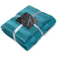 Набор полотенец махровых бирюзовых Конфетти 1 штука 50х90 см 1 штука 70х130 см