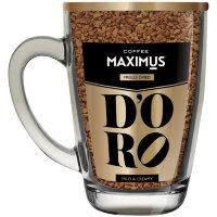 Кофе сублимированный в стеклянной кружке 'D'ORO' ТМ Maximus 70 г