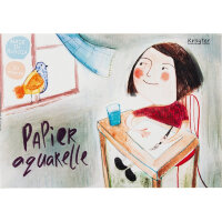 Альбом д/рисов.акварелью 30л А4,склейка,тв.подл,бл.160гр Серия Друзья 00018