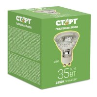 Лампа галогенная Старт 35 Вт GU10 2850k теплый белый спот