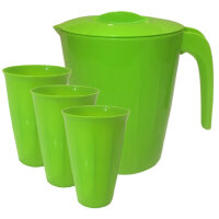 Набор посуды для напитков Plastic Republic кувшин 1.9 л три стакана 350 мл артикул производителя GR1828