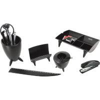 Набор настольный Attache пластиковый 13 предметов черный