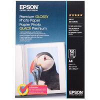 Фотобумага для цветной струйной печати Epson Premium C13S041624 односторонняя глянцевая A4 255 г/кв.м 50 листов