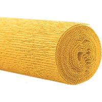 Бумага для творчества WEROLA крепированная флористическая желтая