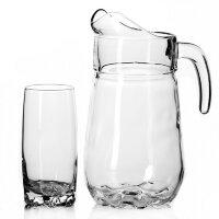 Набор посуды для питья Pasabahce Sylvana силикатное стекло - кувшин 2600 мл и 6 стаканов 300 мл артикул производителя 97875B