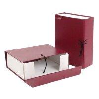 Короб архивный Attache А4 бумвинил красный (складной 10 см 2 хлопчатобумажные завязки)