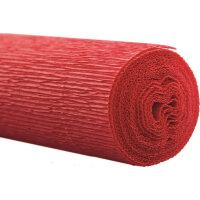Бумага для творчества WEROLA крепированная флористическая красная