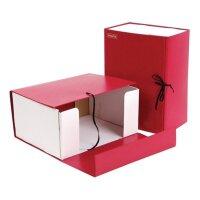 Короб архивный Attache А4 бумвинил красный (складной 15 см 2 хлопчатобумажные завязки)