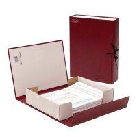 Короб архивный Attache А4 бумвинил красный (складной 7 см бумвинил 2 хлопчатобумажные завязки)