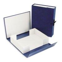 Короб архивный Attache А4 бумвинил синий (нескладной 10 см 2 хлопчатобумажные завязки)