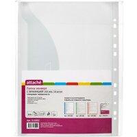 Файл-вкладыш Attache (папка-конверт) А4+ 150 мкм с перфорацией гладкий прозрачный 10 штук в упаковке