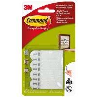 Застежки клейкие Command белые нагрузка до 450 г (4 комплекта в упаковке)