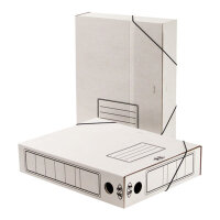 Короб архивный Attache А4 гофрокартон белый (складной 75 мм 2 резинки)