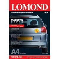 Фотобумага для цветной струйной печати Lomond с магнитным слоем глянцевая А4 660 г/кв.м 2 листа артикул производителя 2020345