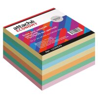 Блок для записей Attache Economy 75x75x35 мм разноцветный плотность 65 г/кв.м