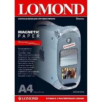 Фотобумага для цветной струйной печати Lomond с магнитным слоем матовая А4 620 г/кв.м 2 листа артикул производителя 2020346