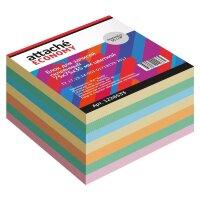 Блок для записей Attache Economy 75x75x35 мм разноцветный проклеенный плотность 65 г/кв.м